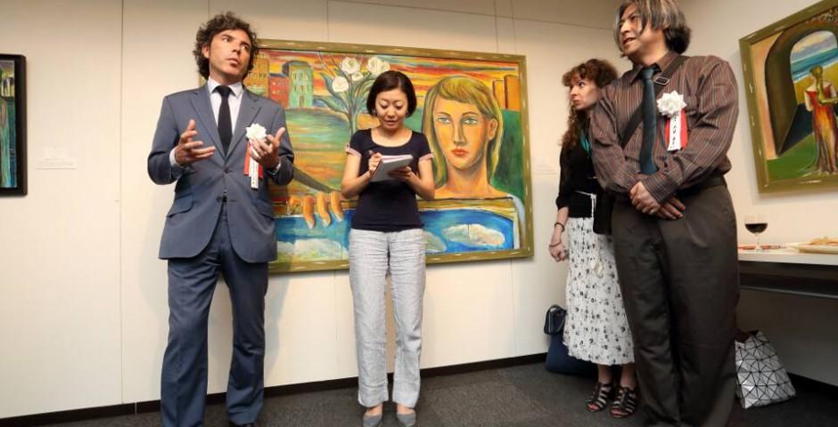 Ignauguración en la Galería Nagai Garou yurihito otsuki